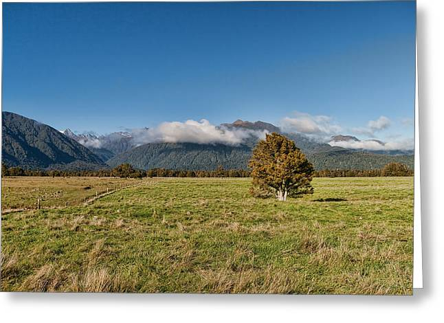 Aotearoa Greeting Cards - Glacier View Greeting Card by Andreas Hartmann
