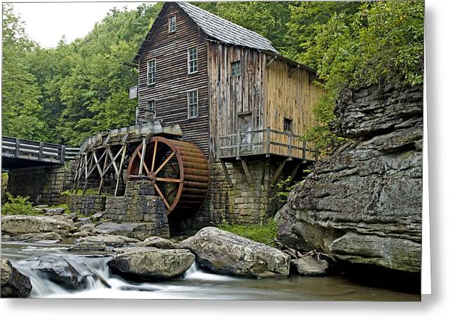 Grist Mills Greeting Cards - Glade Creek Grist Mill located in Babcock State Park West Virginia Greeting Card by Brendan Reals