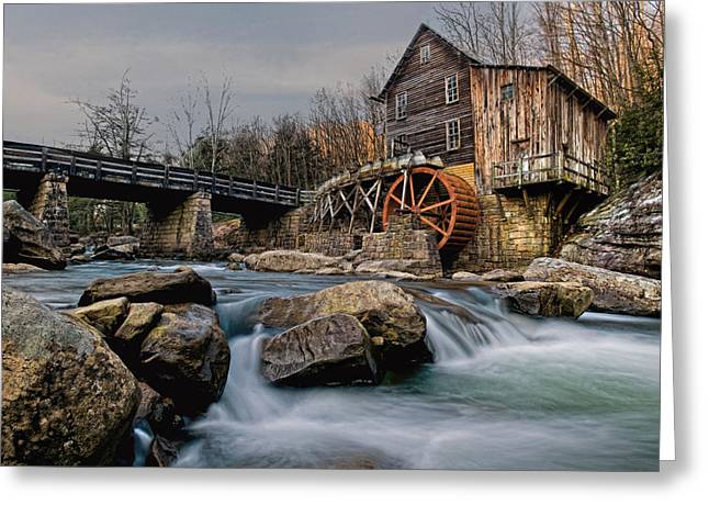 Grist Mill Digital Art Greeting Cards - Glade Creek Grist Mill  Greeting Card by Wade Aiken