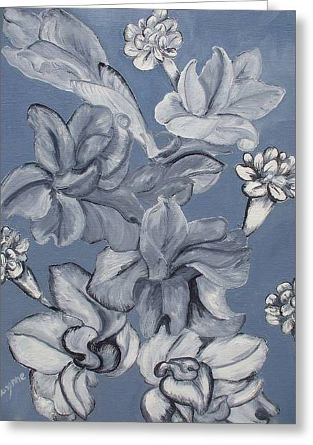 Gladiolas And Carnations Greeting Card by Suzanne Buckland