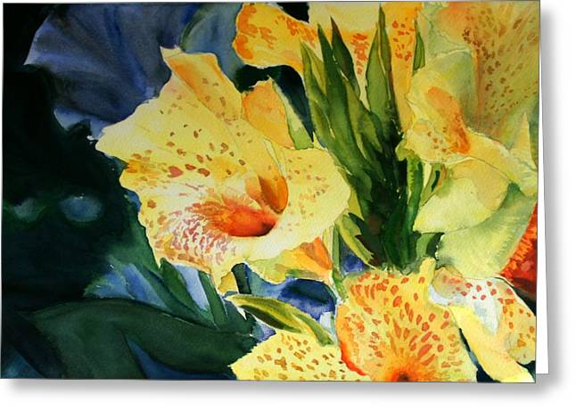 Liliacees Greeting Cards - Gladiolus Greeting Card by Maria Balcells