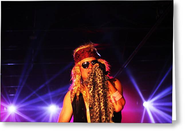 Glam Rock Lead Singer Greeting Card by James Hammen