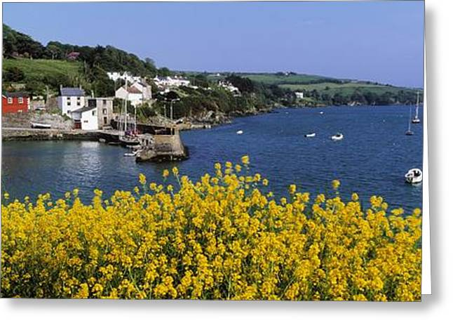 Ocean Panorama Greeting Cards - Glandore Village & Harbour, Co Cork Greeting Card by The Irish Image Collection