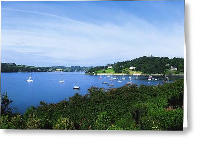 Boats In Harbor Greeting Cards - Glanmore Lake, Beara Peninsula, Co Greeting Card by The Irish Image Collection