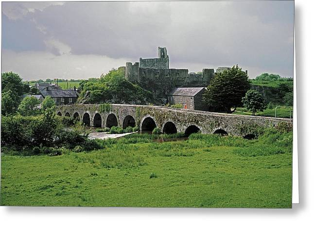 Overcast Day Greeting Cards - Glanworth Bridge, Funshion River, Co Greeting Card by The Irish Image Collection