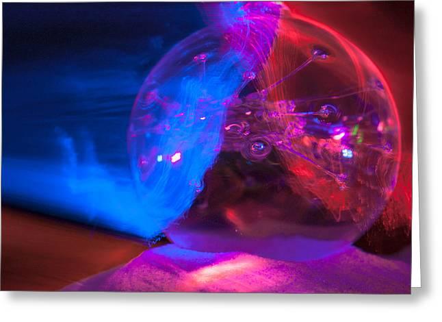 Brandon Smith Greeting Cards - Glass And Light Sculpture 20120615 Greeting Card by Brandon Smith