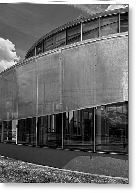 Glass And Metal Art Greeting Cards - Glass and Metal Structure Queens NY Greeting Card by Robert Ullmann