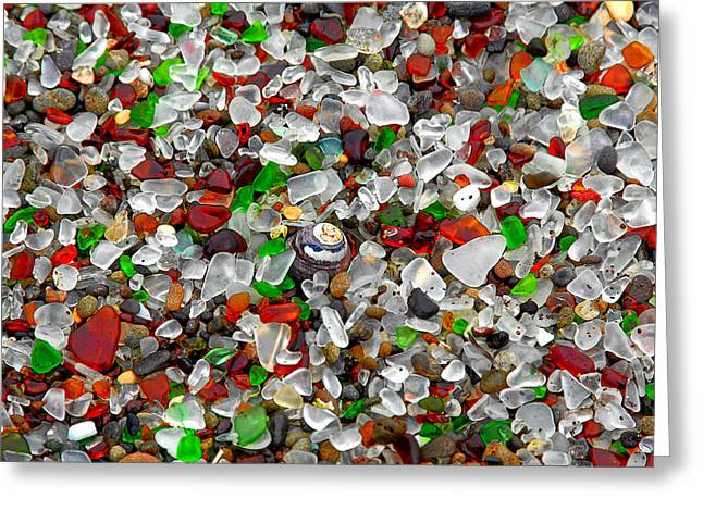 Wet Greeting Cards - Glass Beach Fort Bragg Mendocino Coast Greeting Card by Christine Till