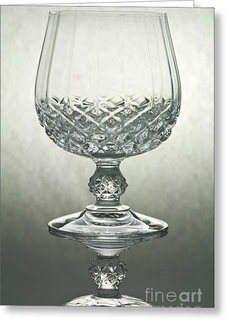 Shot Glass Greeting Cards - Glass Greeting Card by Blink Images