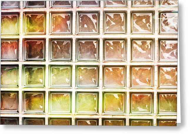 Abstract Style Greeting Cards - Glass bricks Greeting Card by Tom Gowanlock
