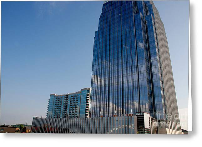 Glass Building Greeting Cards - Glass Buildings Nashville Greeting Card by Susanne Van Hulst