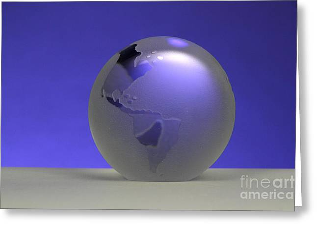 Glass Globe Greeting Card by Photo Researchers, Inc.