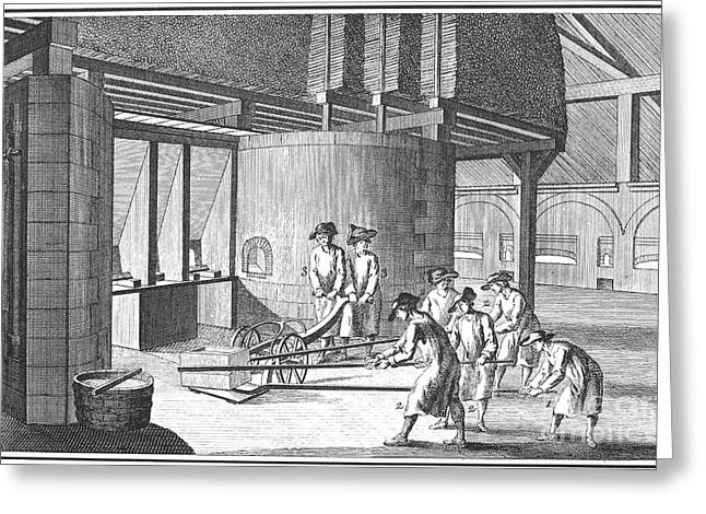 1751 Greeting Cards - Glass Manufacture, 1751 Greeting Card by Granger