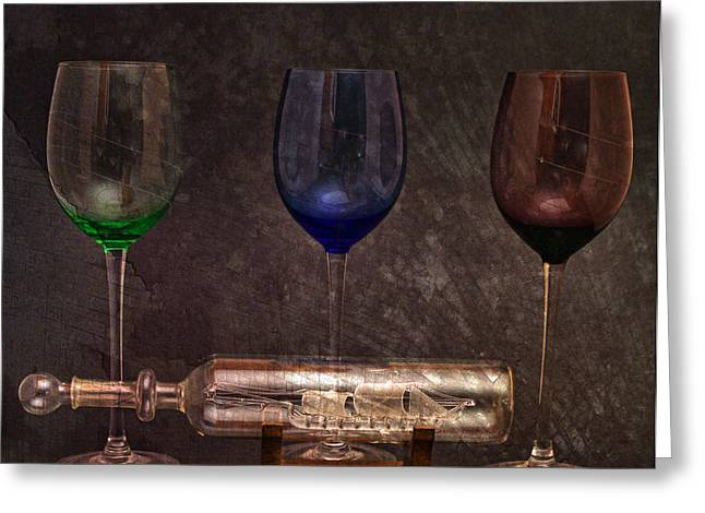 Reflection In Glass Greeting Cards - Glass Menagerie Greeting Card by Peter Chilelli