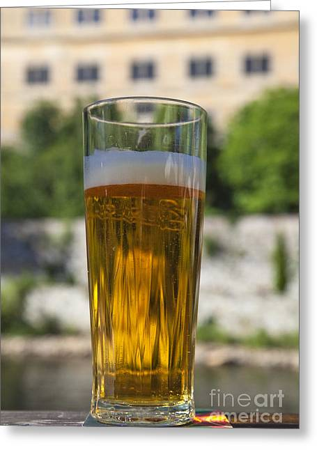 Glass Of Beer Greeting Card by David Buffington