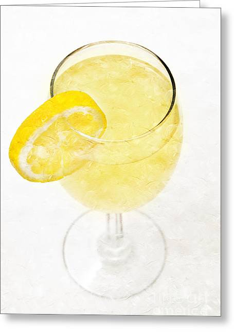 Sweat Greeting Cards - Glass of Lemonade Greeting Card by Andee Design