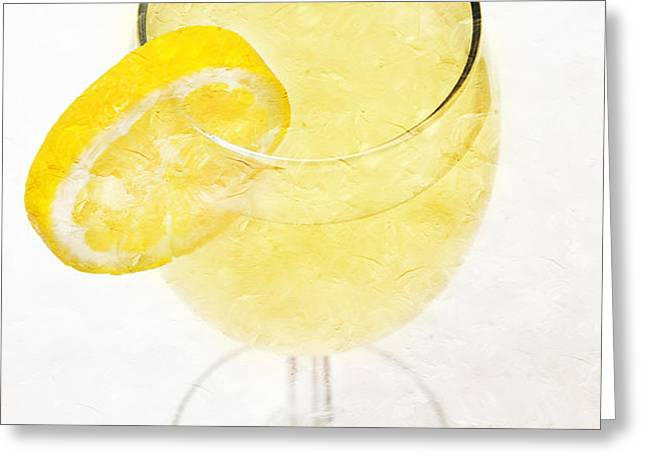 Glass of Lemonade Greeting Card by Andee Design
