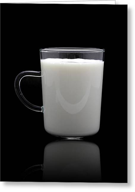 Healthy Ceramics Greeting Cards - Glass of milk  Greeting Card by Natthawut Punyosaeng