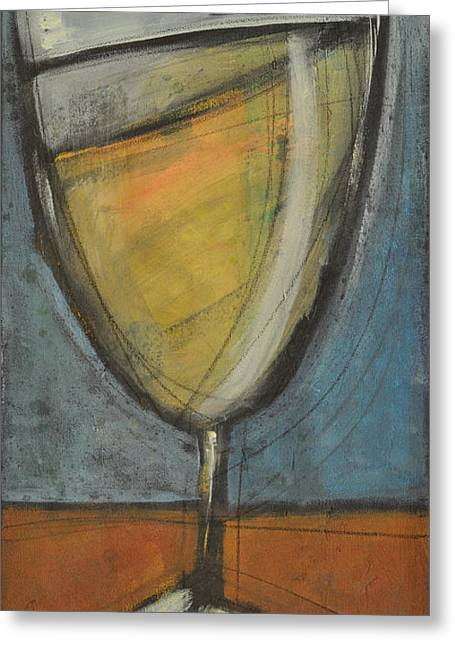 Stylized Beverage Greeting Cards - Glass Of White Greeting Card by Tim Nyberg