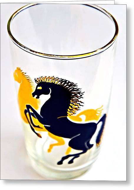Susan Leggett Greeting Cards - Glass of Wild Horses Greeting Card by Susan Leggett