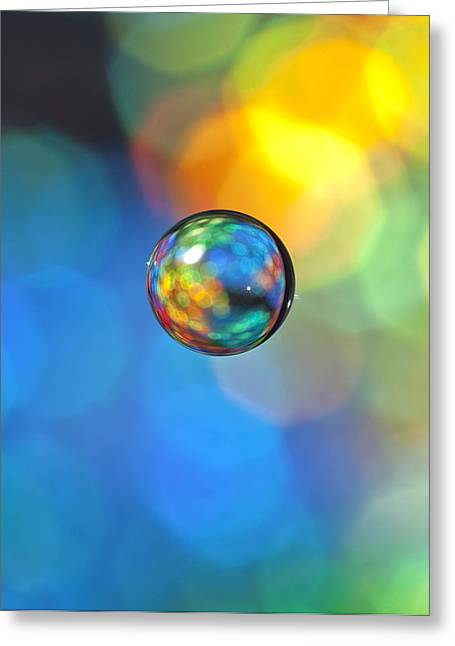 Glass Orb 1 Greeting Card by Al Hurley