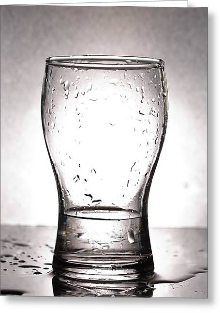 Glass With Water  Greeting Card by Chatchawin Jampapha