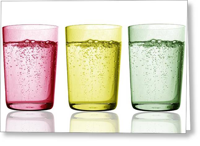Tumbler Greeting Cards - Glasses Of Water Greeting Card by Gombert, Sigrid
