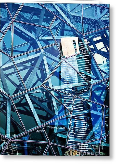Glasshouse City Greeting Card by Andrew Paranavitana