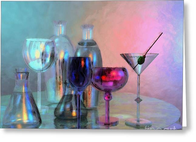 Reflexions Greeting Cards - Glassy Still Life Greeting Card by Jutta Maria Pusl