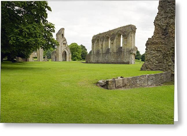 Historic England Greeting Cards - Glastonbury Abbey Ruins Greeting Card by Jan Faul