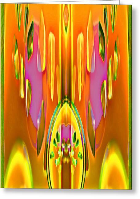 Mathilde Vhargon Greeting Cards - Gleaming Deco Bouquet Greeting Card by Mathilde Vhargon
