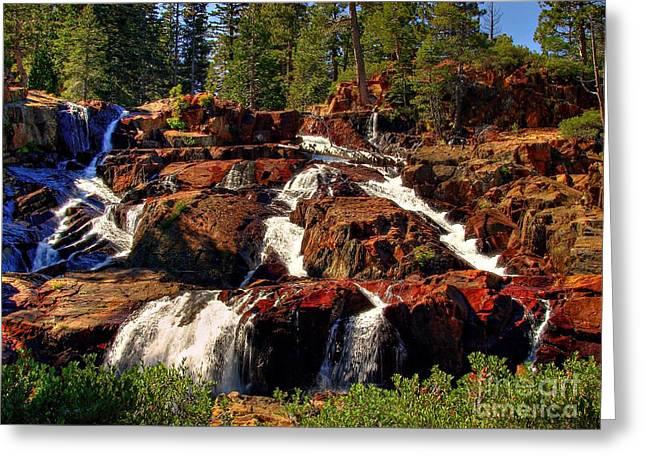 Glen Alpine Falls Greeting Card by Scott McGuire