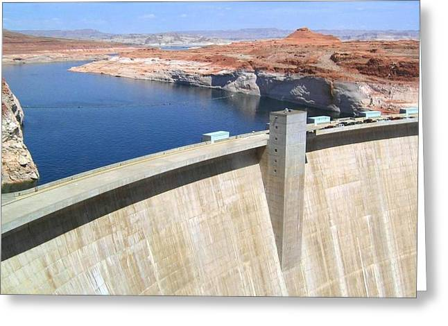 Will Power Greeting Cards - Glen Canyon Dam Greeting Card by Will Borden