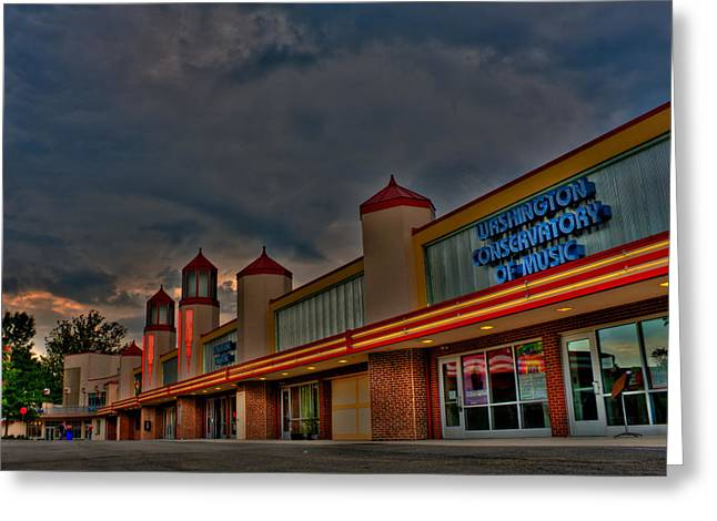 Kevin Hill Greeting Cards - Glen Echo park a Glow Greeting Card by Kevin Hill
