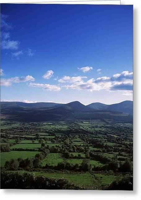 Vale Greeting Cards - Glen Of Aherlow And The Galtee Greeting Card by The Irish Image Collection
