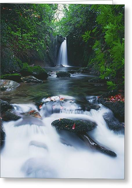 Sligo Greeting Cards - Glencar, Co Sligo, Ireland Waterfall Greeting Card by The Irish Image Collection
