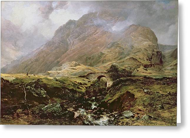 Ravine Greeting Cards - Glencoe Greeting Card by Horatio McCulloch