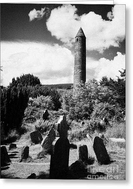 Significance Greeting Cards - Glendalough Round Tower Ireland Greeting Card by Joe Fox
