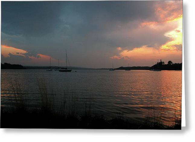 Occupy Beijing. Greeting Cards - Glenmore reservoir - Sunset 3 Greeting Card by Stuart Turnbull