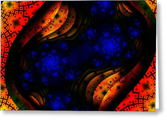 Deep Layer Greeting Cards - Glimpse Into The Heavens Greeting Card by Lauren Goia