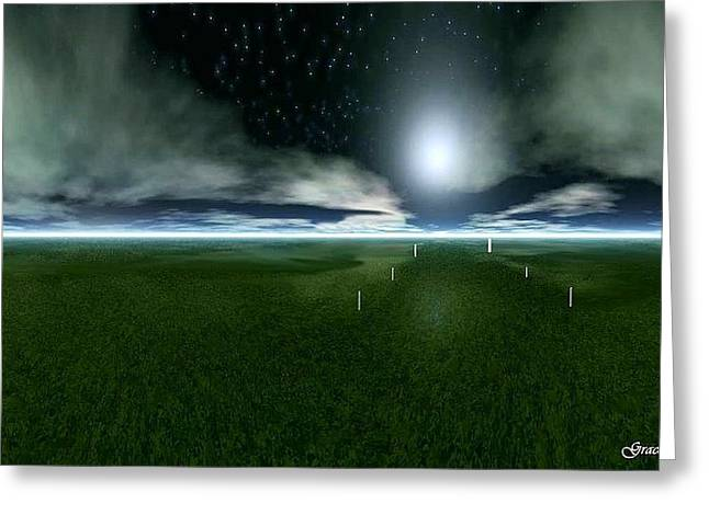 Field. Cloud Digital Art Greeting Cards - Glimpse of Eternity Greeting Card by Julie  Grace