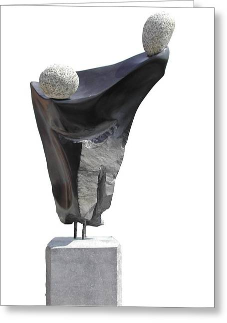 Pa Sculptures Greeting Cards - Glisando Greeting Card by Jos Hamann