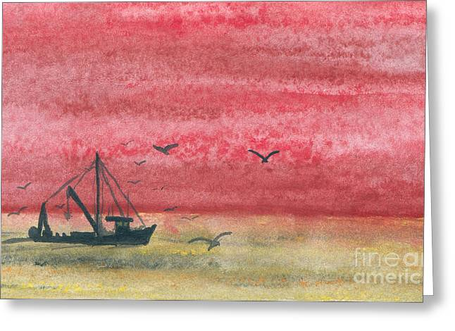 Gloaming Paintings Greeting Cards - Gloaming Greeting Card by R Kyllo