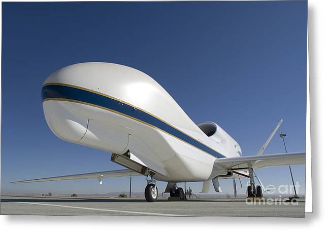 Global Hawk Greeting Cards - Global Hawk Unmanned Aircraft Greeting Card by Stocktrek Images