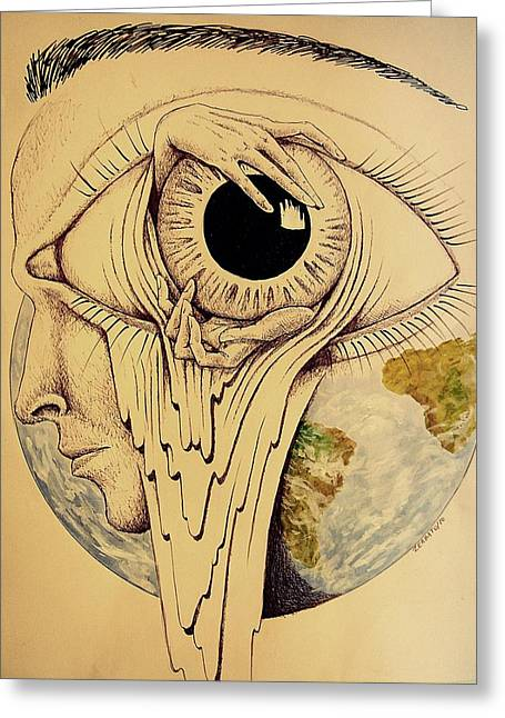 Toxic Mixed Media Greeting Cards - Global Vision of the Situation Greeting Card by Paulo Zerbato