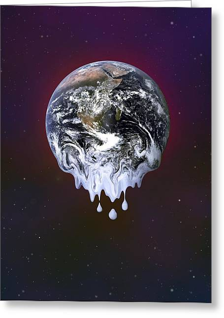 Global Heating Greeting Cards - Global Warming, Conceptual Image Greeting Card by Martin Bond
