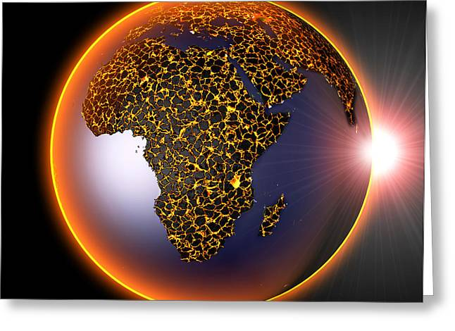 Global Heating Greeting Cards - Global Warming, Conceptual Image Greeting Card by Roger Harris