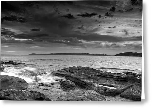 La Perouse Bay Greeting Cards - Gloom over Congwong Greeting Card by Mark Lucey