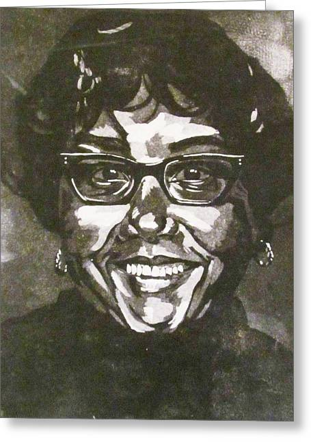 Glass Reliefs Greeting Cards - Gloria Greeting Card by Sabrina McGowens