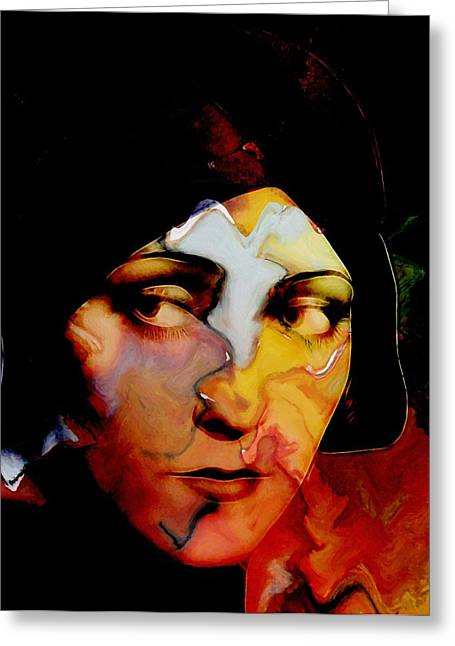 Silent Film Greeting Cards - Gloria Swanson Abstract Greeting Card by Stefan Kuhn